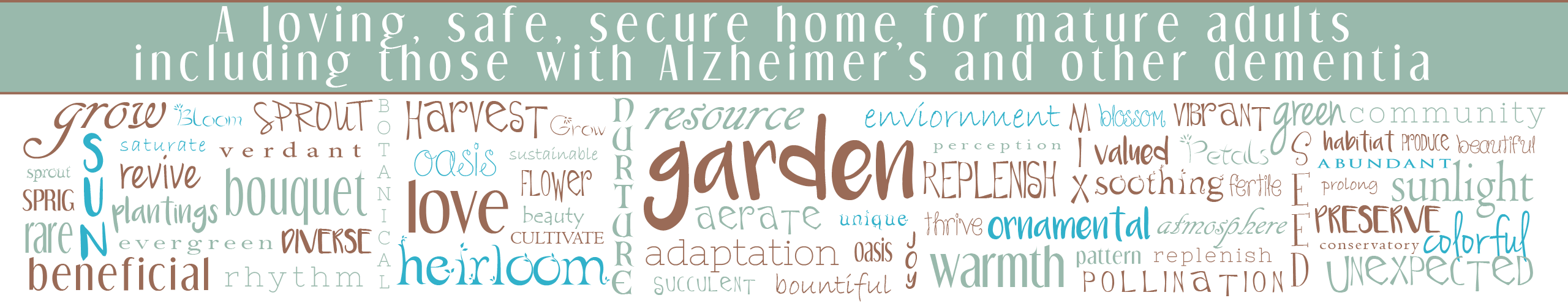 Garden Words With Header And Keyline Garden House Morro Bay
